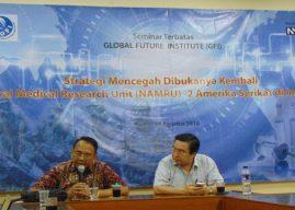 """Berita Foto Pra Seminar Terbatas:  """"Strategi Mencegah Kembali NAMRU-2 AS di Indonesia"""""""